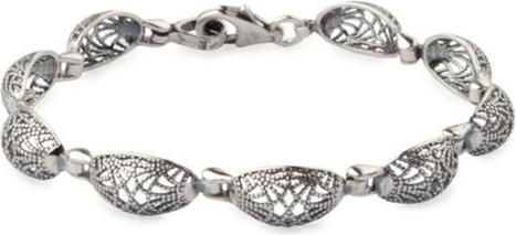 Polcarat Design Srebrna bransoletka owalna symetria L 1879
