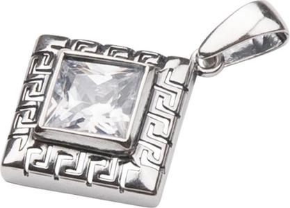 Polcarat Design Srebrny wisiorek z cyrkonią W 962 : Kolor - Biały