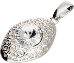 Polcarat Design Srebrny wisiorek z kryształem Swarovskiego W 1961 : Kolor - Crystal