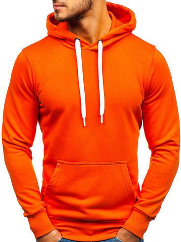 Pomarańczowa bluza Denley w młodzieżowym stylu z bawełny