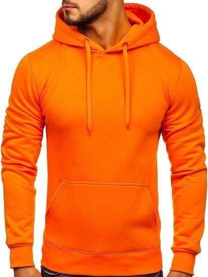 Pomarańczowa bluza Denley z dresówki