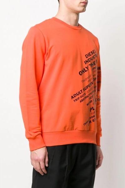 Pomarańczowa bluza Diesel z bawełny