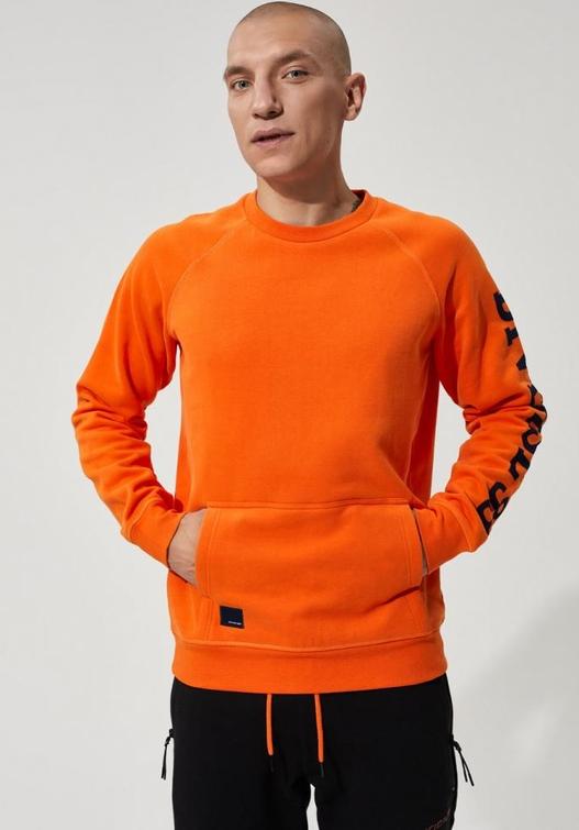 Pomarańczowa bluza Diverse z dzianiny