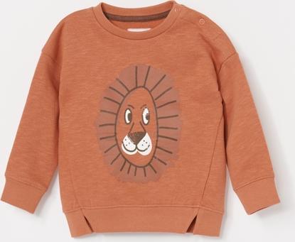 Pomarańczowa bluza dziecięca Reserved z bawełny