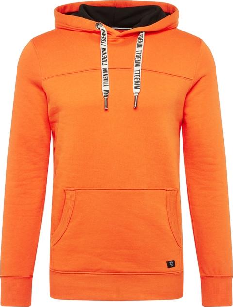 Pomarańczowa bluza Tom Tailor Denim z dresówki