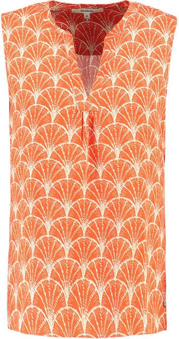 Pomarańczowa bluzka Garcia bez rękawów
