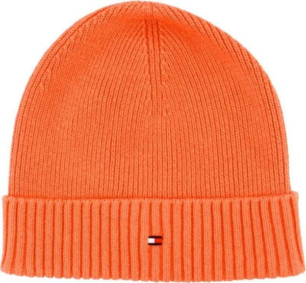 Pomarańczowa czapka Tommy Hilfiger