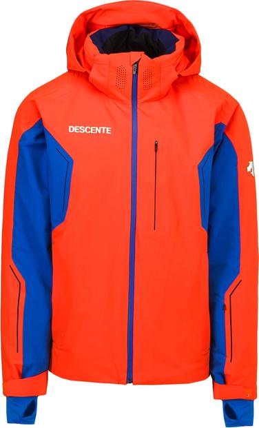 Pomarańczowa kurtka Descente z tkaniny krótka