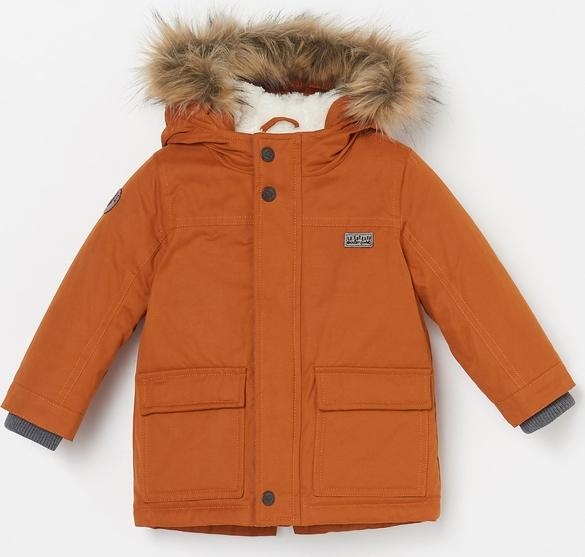 Pomarańczowa kurtka dziecięca Reserved dla chłopców
