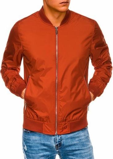 Pomarańczowa kurtka Ombre w stylu casual