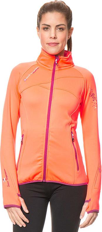 Pomarańczowa kurtka Peak Mountain z plaru w sportowym stylu
