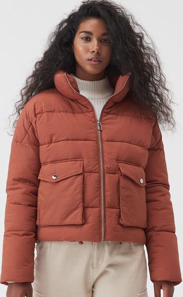 Pomarańczowa kurtka Sinsay