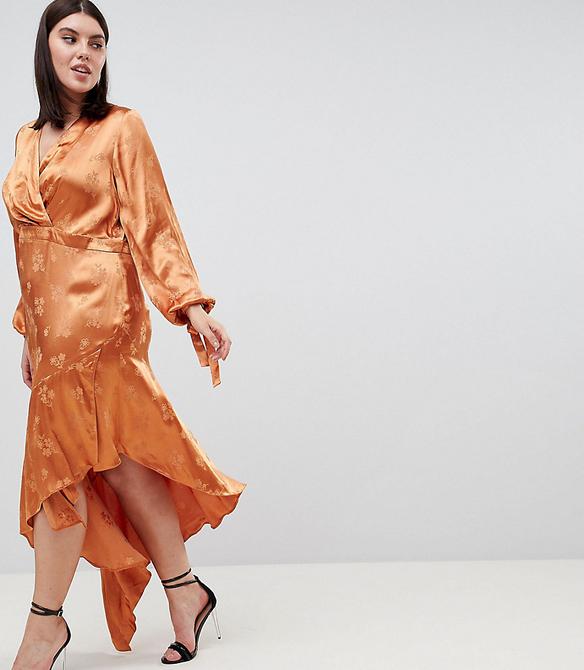 Pomarańczowa sukienka Asos asymetryczna