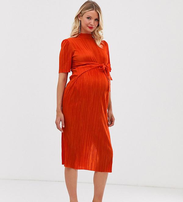 Pomarańczowa sukienka Asos