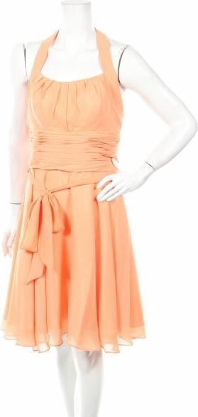 Pomarańczowa sukienka Astrapahl rozkloszowana