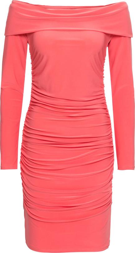 Pomarańczowa sukienka bonprix bodyflirt boutique mini z długim rękawem