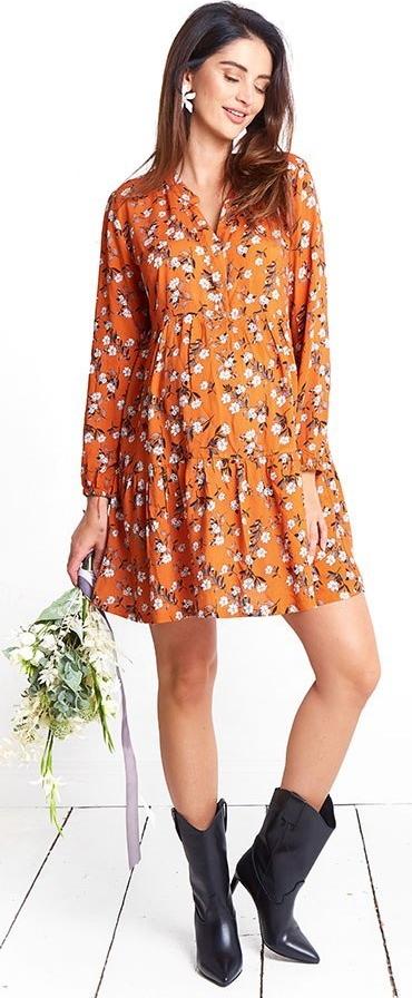 Pomarańczowa sukienka Happymum