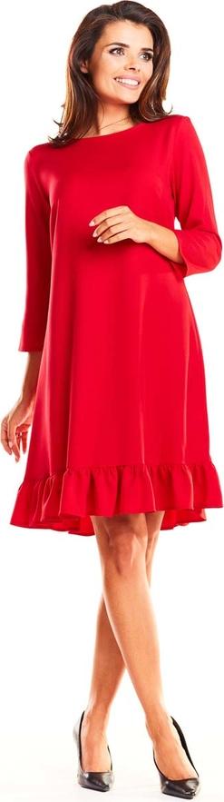 Pomarańczowa sukienka Infinite You z długim rękawem