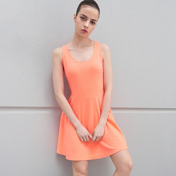 Pomarańczowa sukienka Sinsay mini