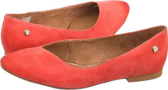 d6095cd26208c Pomarańczowe baleriny maciejka w stylu casual