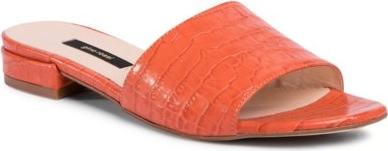 Pomarańczowe klapki Gino Rossi