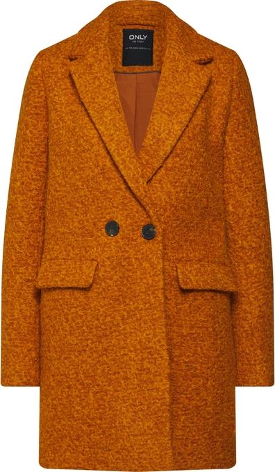 Pomarańczowy płaszcz Only w stylu casual