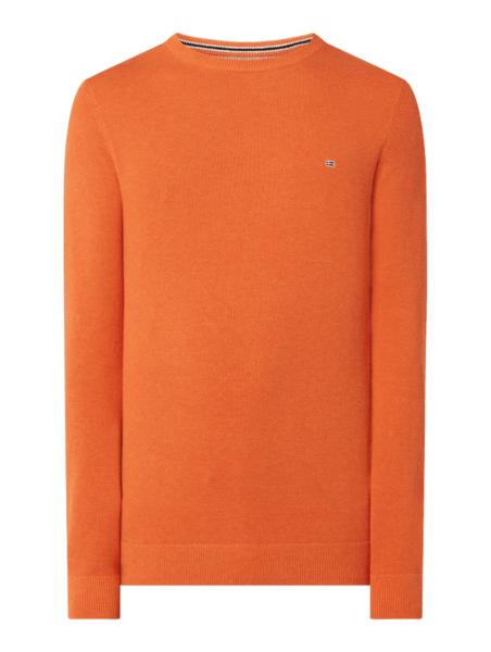 Pomarańczowy sweter Christian Berg Men w stylu casual z bawełny