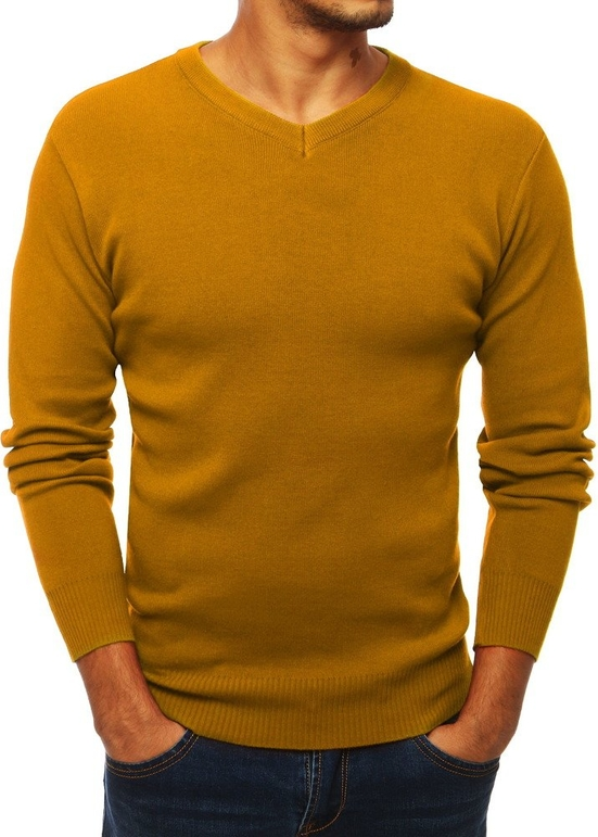 Pomarańczowy sweter Dstreet z wełny