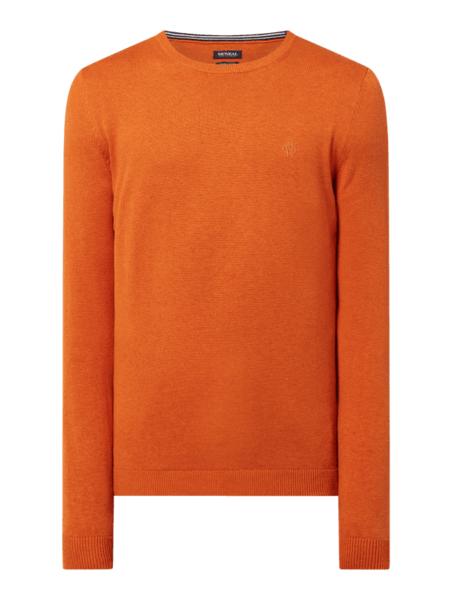 Pomarańczowy sweter McNeal w stylu casual z bawełny