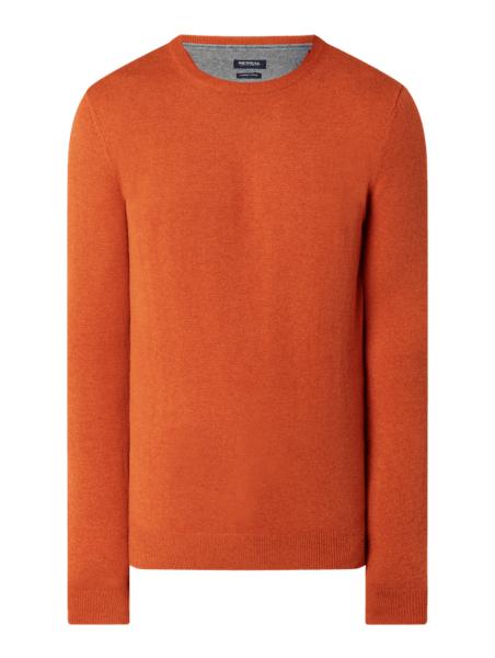 Pomarańczowy sweter McNeal z wełny w stylu casual