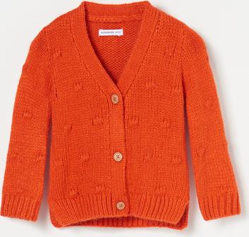 Pomarańczowy sweter Reserved dla dziewczynek
