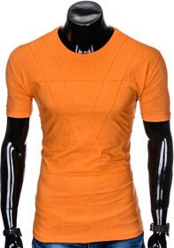 Pomarańczowy t-shirt Ombre Clothing w stylu casual z krótkim rękawem