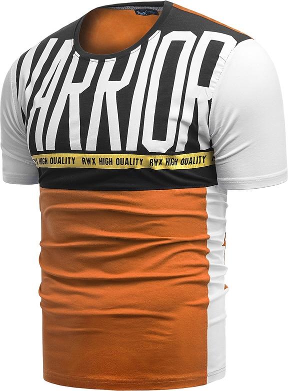Pomarańczowy t-shirt Risardi