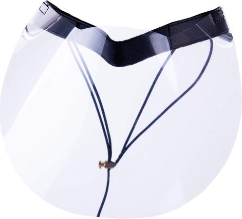 Przyłbica ochronna - maseczka - z paskiem z ekoskóry QART - półprzyłbica