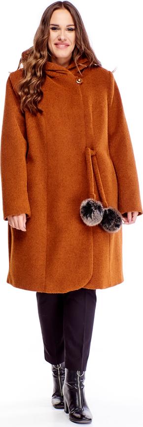 Ptakmoda.com płaszcz z kapturem i wiązaniem w pasie
