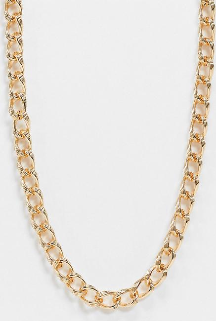 Reclaimed Vintage Inspired – Klasyczny gruby łańcuszek-Złoty