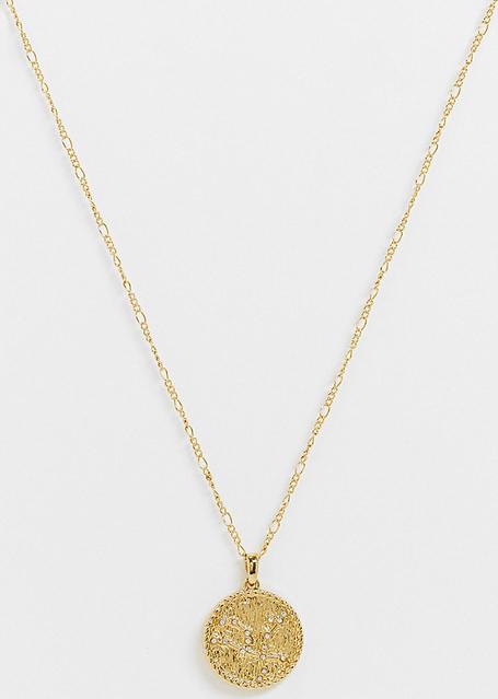 Reclaimed Vintage Inspired – Naszyjnik z wisiorkiem z motywem Gwiazdozbioru Feniksa pozłacany 14-karatowym złotem-Złoty