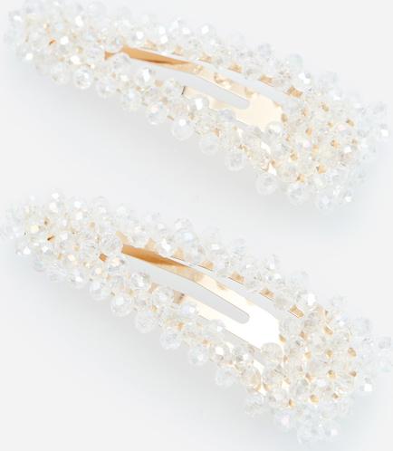 Reserved - Spinki z kryształkami - Biały