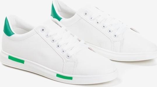 Royalfashion.pl Biało-zielone tenisówki męskie Tanami - Obuwie