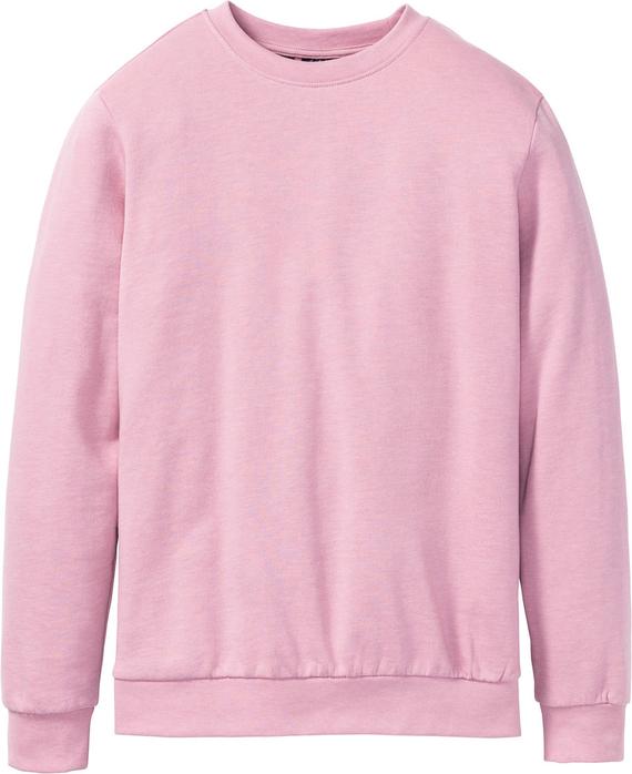 Różowa bluza bonprix bpc bonprix collection z dzianiny