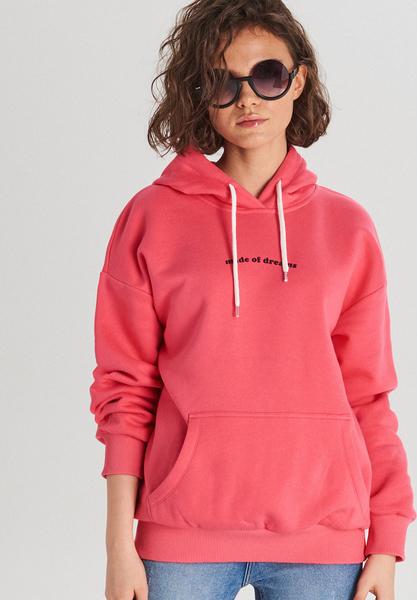 Różowa bluza Cropp w młodzieżowym stylu
