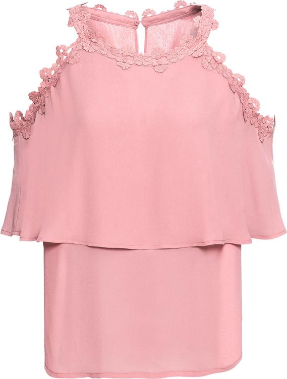 Różowa bluzka bonprix BODYFLIRT na ramiączkach w stylu boho