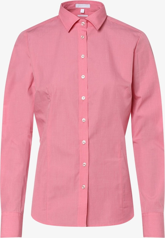 Różowa bluzka brookshire z kołnierzykiem z długim rękawem