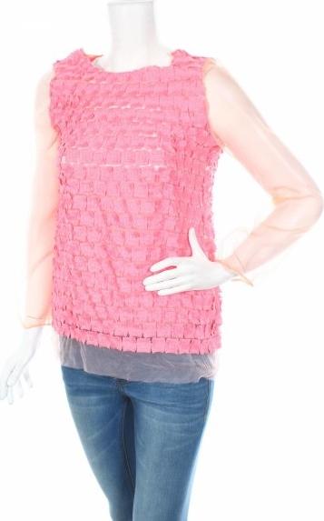 Różowa bluzka Douuod bez rękawów