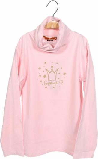 Różowa bluzka dziecięca Longboard z długim rękawem