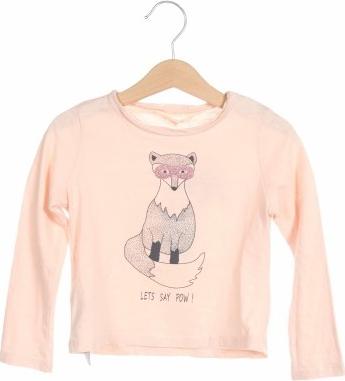 Różowa bluzka dziecięca Mango dla dziewczynek