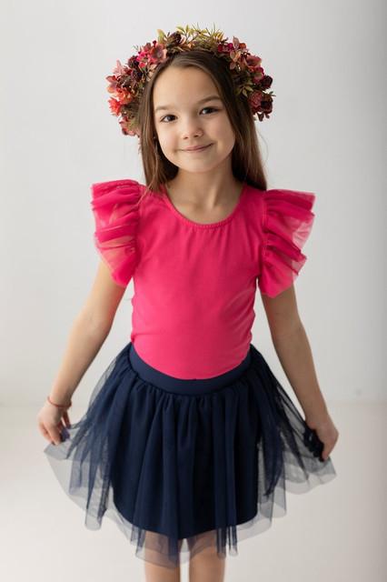 Różowa bluzka dziecięca Myprincess / Lily Grey z tiulu