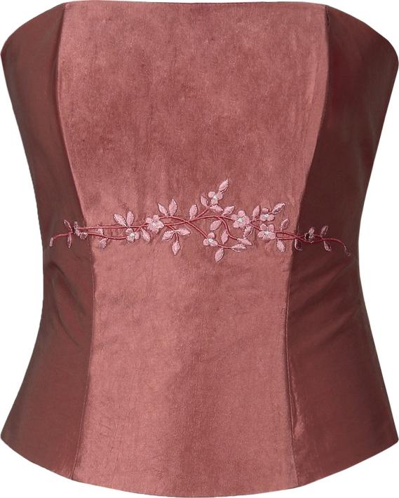 Różowa bluzka Fokus bez rękawów