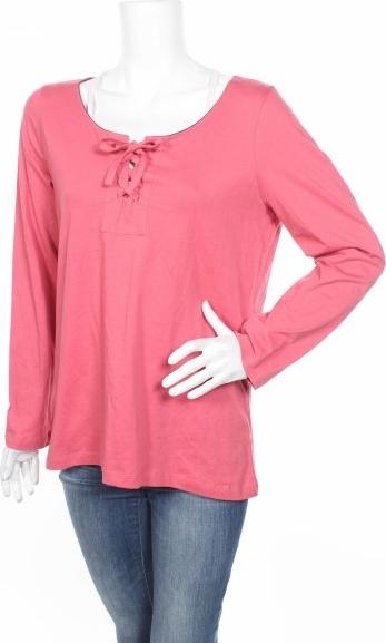 Różowa bluzka Gina Benotti z długim rękawem