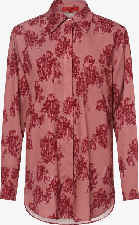 Różowa bluzka Hugo Boss
